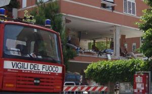 La palazzina interessata dall'esplosione, in via C. Maestrini a Roma (foto: E.F.Torsello)