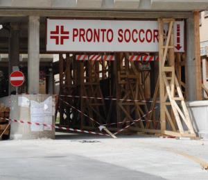 Ospedale San Salvatore, il Pronto Soccorso.